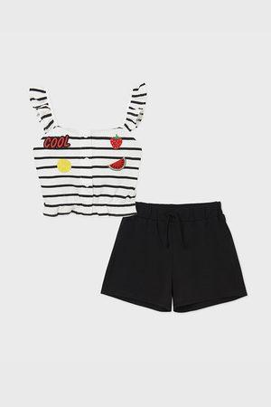 Mayoral Moda Infantil, S:A.U. SET dívčího tílka a šortek Cool