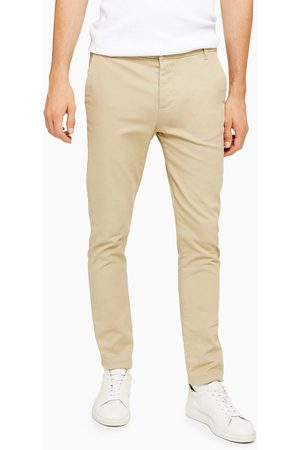 Topman Muži Chino - Stretch skinny chinos in stone-Cream