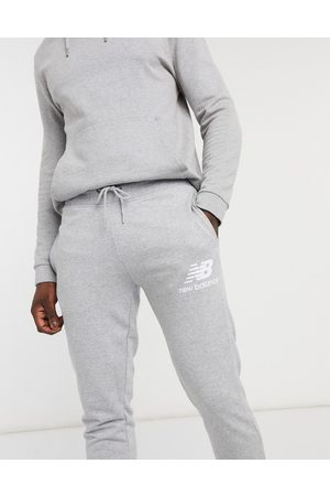 New Balance Large logo joggers in grey