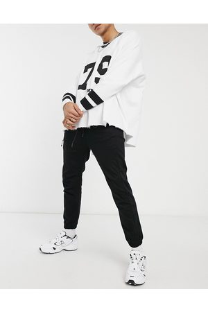 Pull&Bear Join Life cuffed trousers in black