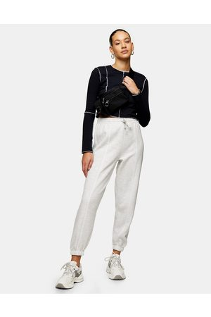 Topshop Ženy Tepláky - Classic joggers in pale grey-Brown