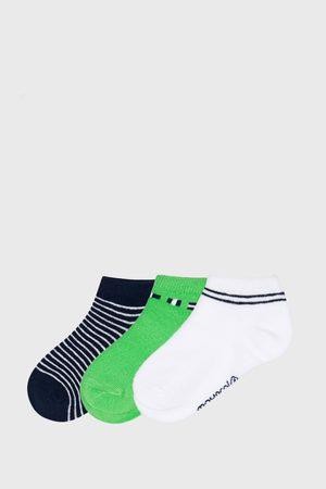 Mayoral Moda Infantil, S:A.U. 3 PACK nízkých ponožek Matcha