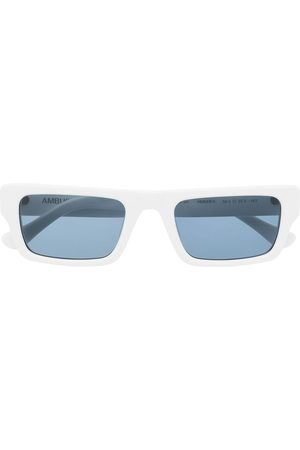 AMBUSH Rectangle-frame blue-tinted sunglasses