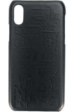 Saint Laurent Muži Kryty na mobil - Crocodile effect iPhone 10 case