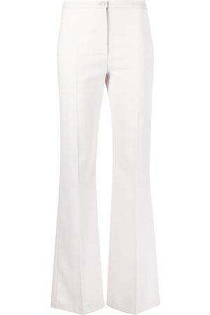 Patrizia Pepe Ženy Úzké nohavice - Crepe slim flared trousers