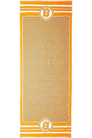 Burberry Reversible Monogram-print silk scarf