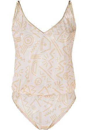 Marlies Dekkers Karo egyptian-print bodysuit