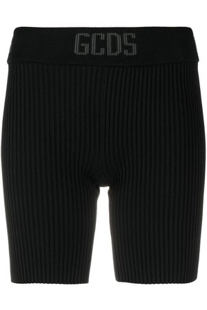 GCDS Ženy Kraťasy - Ribbed-knit cycling shorts
