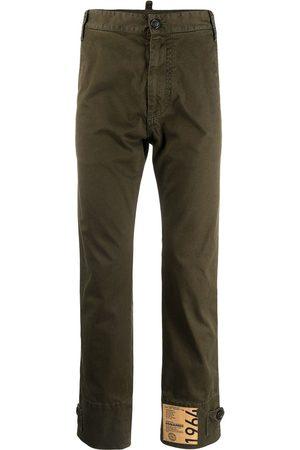 Dsquared2 Muži Rovné nohavice - Logo-patch trousers