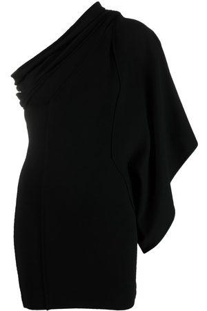 Rick Owens Athena voluminous cold-shoulder dress