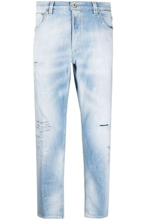 Dondup Muži Rovné nohavice - Mid-rise distressed jeans