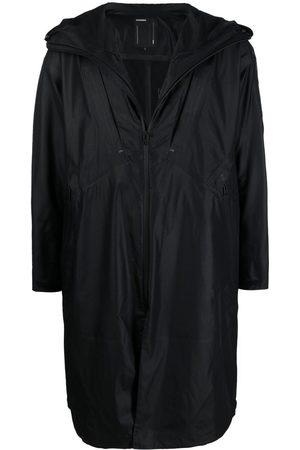 ATTACHMENT Mid-length zipped raincoat