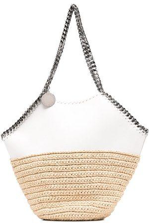 Stella McCartney Ženy Přes rameno - Falabella panelled straw shoulder bag