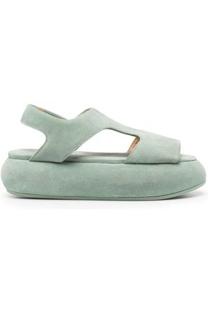 MARSÈLL Platform suede-leather sandals