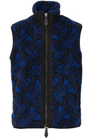 Burberry Ženy Vesty - Jacquard logo fleece gilet