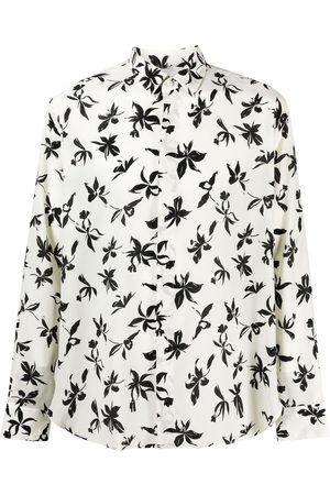 Saint Laurent Floral-print long-sleeve shirt