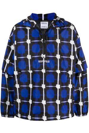 MARCELO BURLON Muži Pláštěnky - Check raincoat jacket