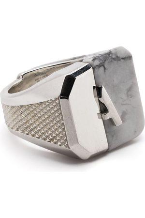 AMBUSH Muži Prstýnky - Misfit panelled signet ring