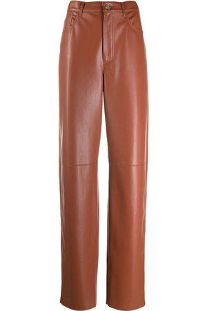 Nanushka Ženy Kožené kalhoty - Radha leather straight-leg trousers