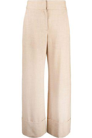 ELEVENTY Ženy Široké nohavice - High-waisted wide-leg trousers