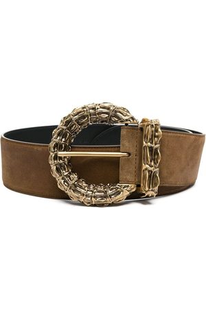 Saint Laurent Ženy Pásky - Gold-tone buckle-fastening belt