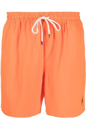 Polo Ralph Lauren Muži Šortky - Logo drawstring swim shorts