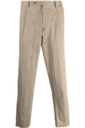 Etro Muži Rovné nohavice - Straight-leg cotton trousers