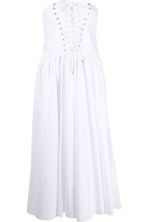 Serafini Ženy Midi - Strapless flared midi dress