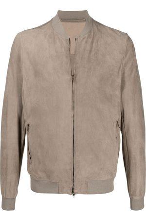 SALVATORE SANTORO Muži Bombery - Zip-up bomber jacket