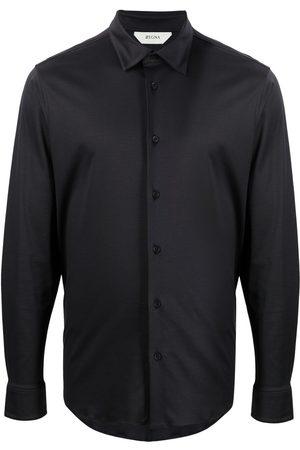 Z Zegna Muži S dlouhým rukávem - Long-sleeved cotton shirt