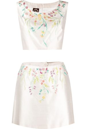 A.N.G.E.L.O. Vintage Cult 2000s floral-embroidered two-piece set
