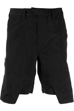 HELIOT EMIL Muži Bermudy - Asymmetric straight-leg shorts