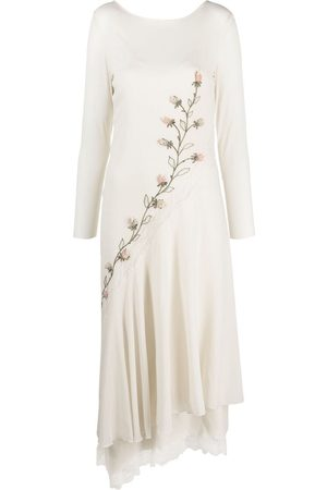 A.N.G.E.L.O. Vintage Cult Ženy Asymetrické - 1990s floral emrboidery asymmetric dress