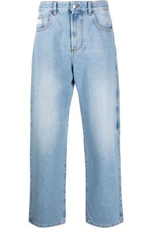 GCDS Muži Rovné nohavice - Logo-patch straight-leg jeans