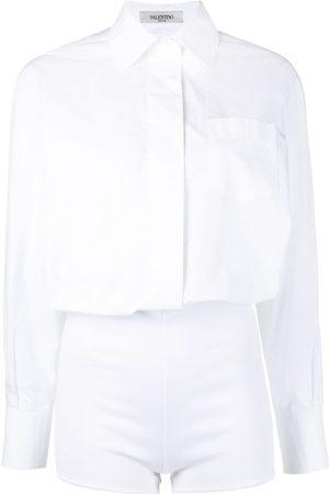 VALENTINO Ženy Overaly krátké - Buttoned shirt playsuit