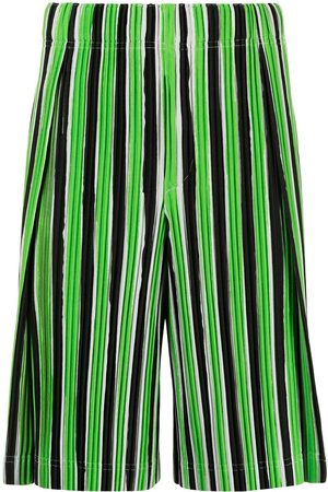 HOMME PLISSÉ ISSEY MIYAKE Muži Kraťasy - Striped plissé track shorts