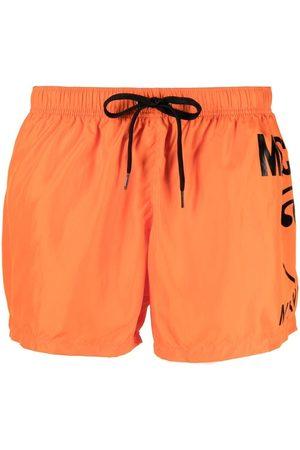 Moschino Muži Šortky - Logo print swim shorts