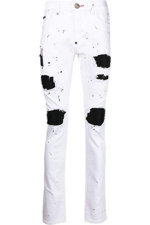 Philipp Plein Biker Destroyed skinny jeans