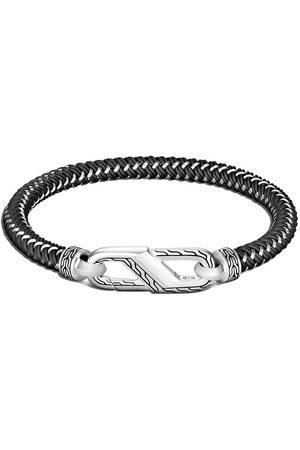 John Hardy Muži Náramky - Classic Chain Silver steel cord carabiner bracelet
