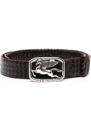 Etro Ženy Pásky - Logo-buckle leather belt