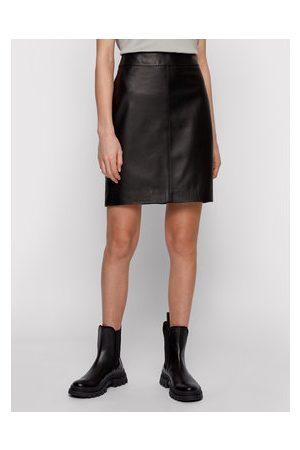 HUGO BOSS Kožená sukně
