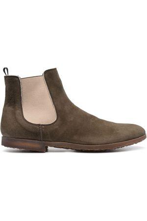 Premiata Muži Šněrovací - Panelled leather desert boots