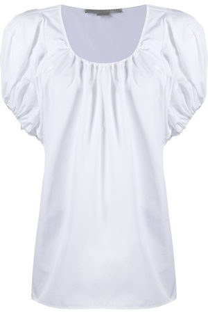 Stella McCartney Ženy S krátkým rukávem - Gathered-detail short-sleeve top
