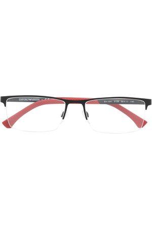 Emporio Armani Muži Sluneční brýle - Rectangular semi-frame glasses