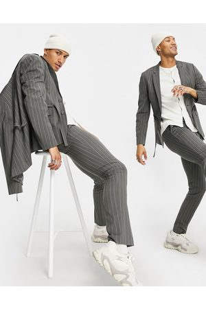 ASOS Skinny suit trousers with grey pinstripe