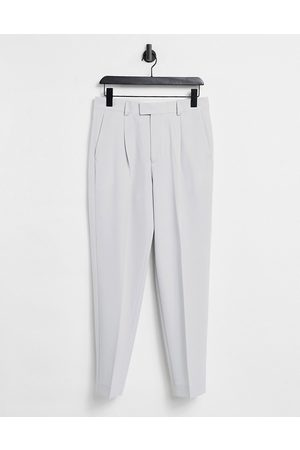 ASOS Muži Chino - Oversized tapered smart trousers in grey