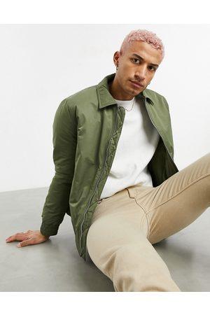 ASOS Muži Péřové bundy - Padded harrington jacket in khaki-Green