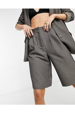 Y.A.S Tailored bermuda short co-ord in dark grey