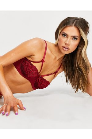 Pour Moi Hush underwire bra in ruby red