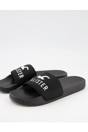 Hollister Muži Sandály - Sliders in black with seagull logo